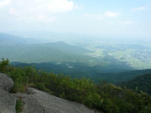 筑波山頂からの景色