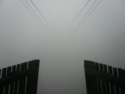 金剛山ロープウェイ視界ゼロ