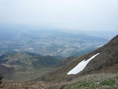 8合目付近雪渓