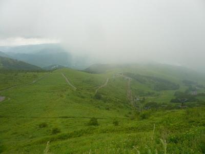 車山山頂から白樺湖