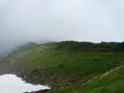 奥大日岳 稜線歩き