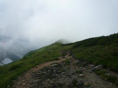 奥大日岳 方面