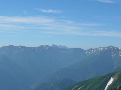 一の越山荘 から 槍ヶ岳