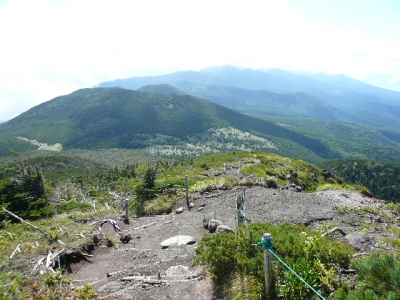 北横岳から下山
