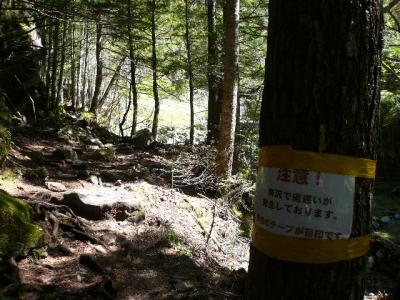 南沢登山道の標識