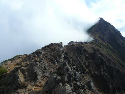 地蔵尾根から赤岳天望荘