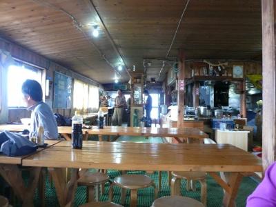 赤岳展望荘 食堂