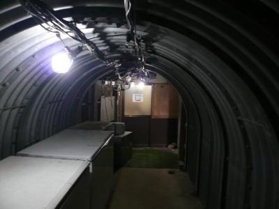 赤岳天望荘 地下トンネル