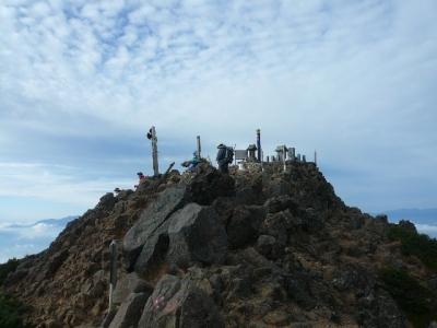 赤岳山頂へ