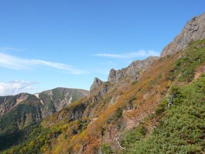 地蔵尾根から横岳・硫黄岳
