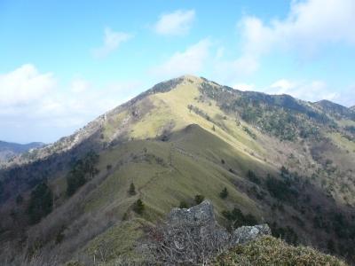 次郎笈から剣山
