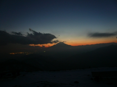 塔ノ岳の夕日
