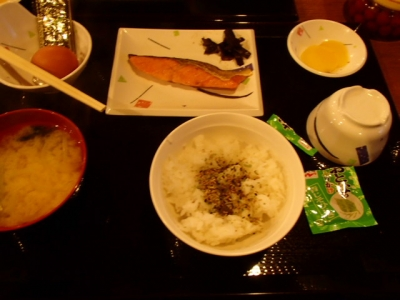 雲取山荘_朝食