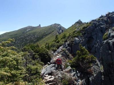 金峰山の岩稜線