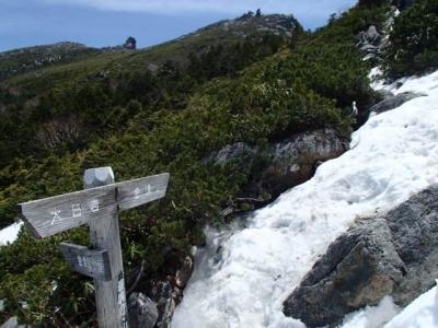 千代ノ吹上付近の残雪
