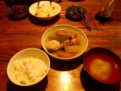 薬師岳小屋_夕食
