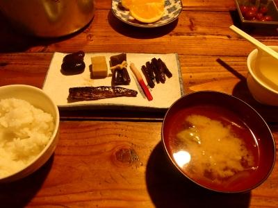 薬師岳小屋_朝食