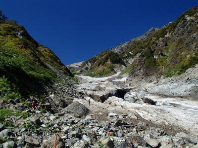 白馬大雪渓崩壊