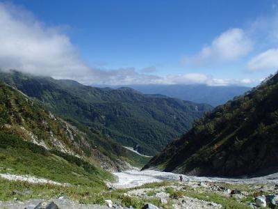 白馬大雪渓全景