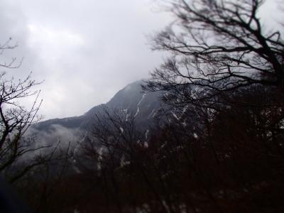 大山がちらり