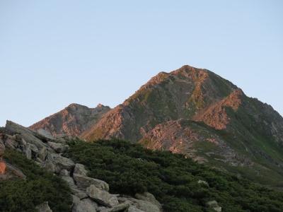 朝焼け北岳