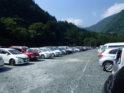 奈良田第二駐車場