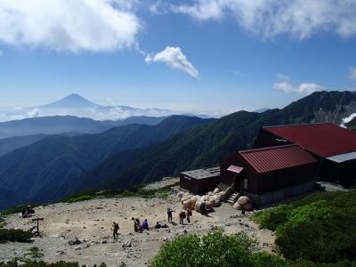 北岳山荘 テン場