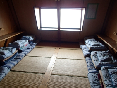 北岳山荘 2F小部屋