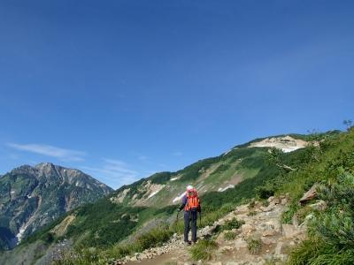 八方池以降は登山道へ