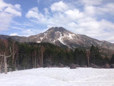 スキー場から日光白根山