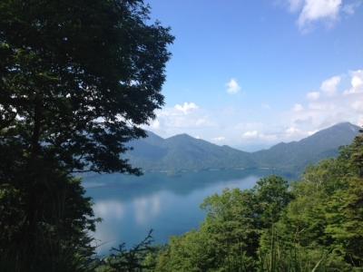 登山道から中禅寺湖