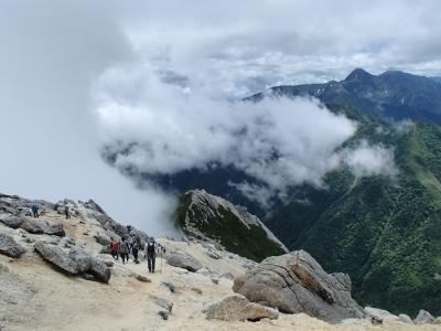 甲斐駒ケ岳 山頂付近