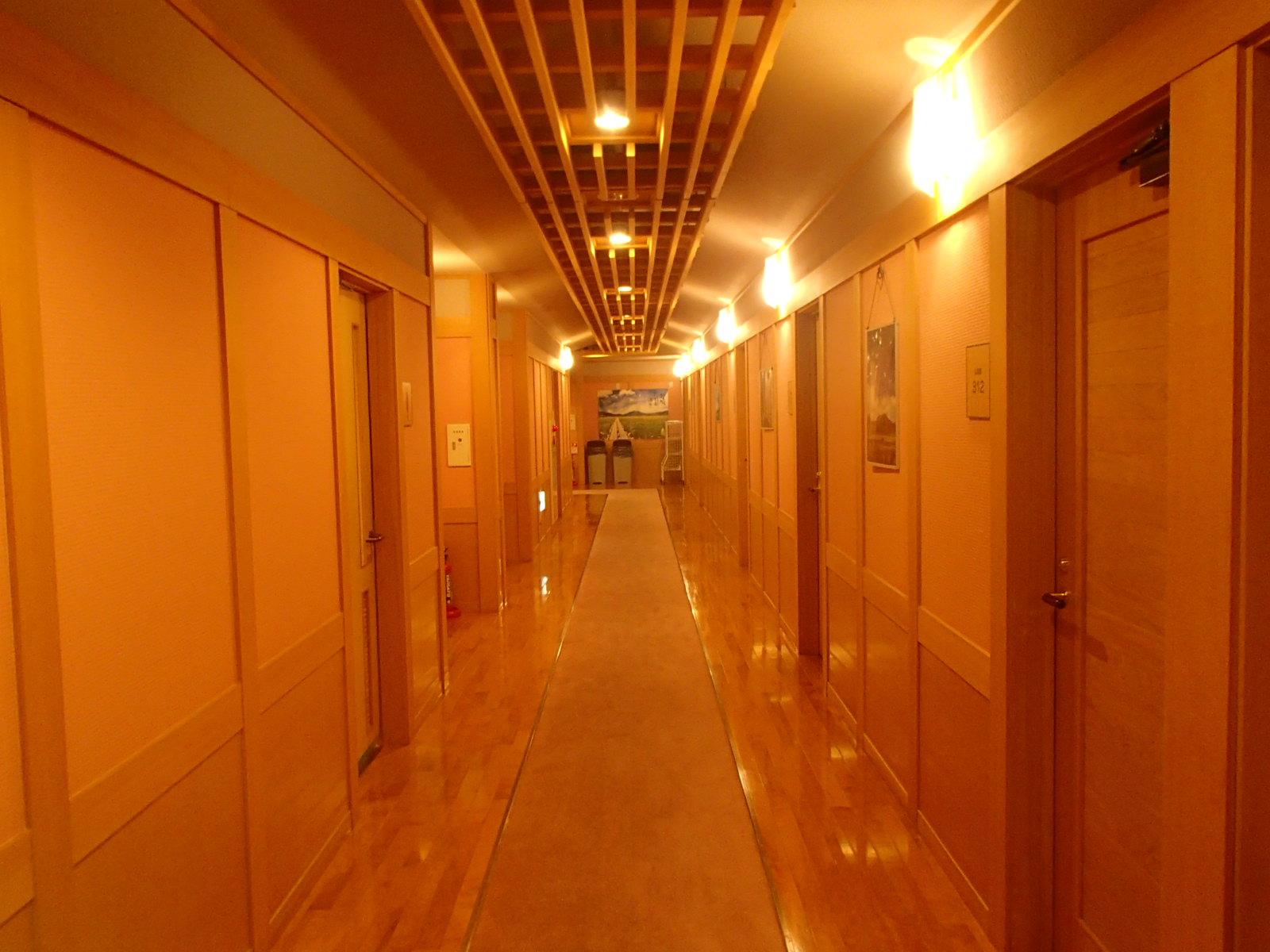 尾瀬御池ロッジ客室廊下.JPG