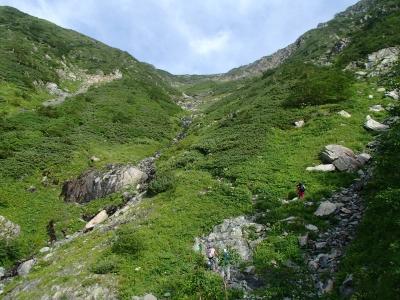 赤石岳分岐までの急登