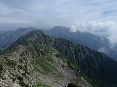 小赤石岳方面の眺望