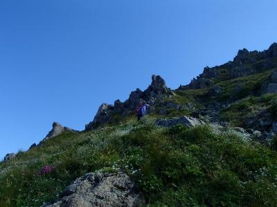 荒川岳の急登
