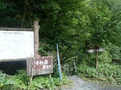 千枚岳登山口
