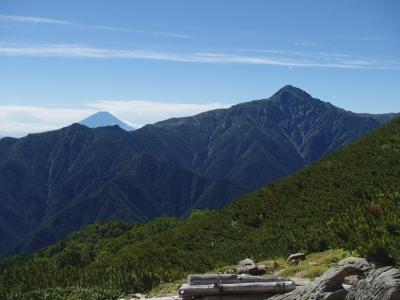 森林限界から北岳