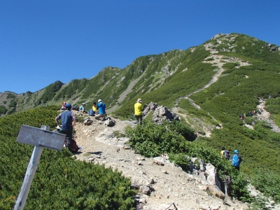 仙丈ケ岳 稜線歩き