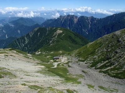 山頂から仙丈小屋