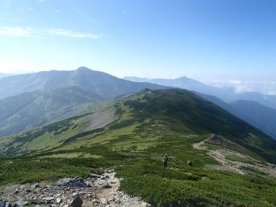 北ノ俣岳−黒部五郎岳 稜線2