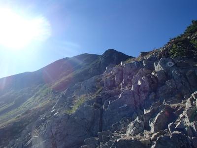 三俣蓮華岳の岩場