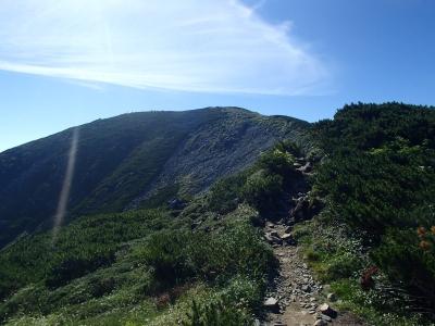三俣蓮華岳の山頂直前