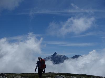 槍ヶ岳と稜線ルート