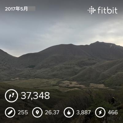 九重山2日目_fitbit