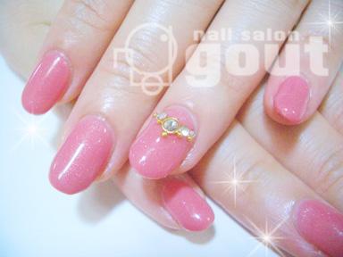 五反田 ネイル nail salo gout  ネイルサロン ピンク