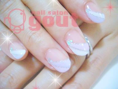 五反田 ネイル nail salo gout  ネイルサロン ピンク パープル