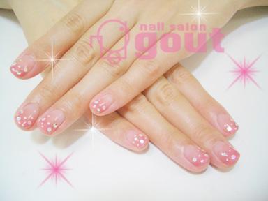 五反田 ネイル nail salo gout  ネイルサロン ジェル ピンク ドット