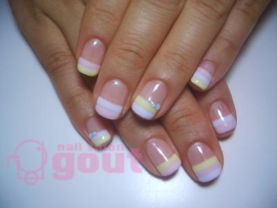 五反田 ネイル nail salon gout  ジェル ボーダー