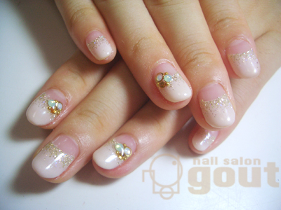 五反田 ネイル nail salon gout  ジェル フレンチ  ベージュ